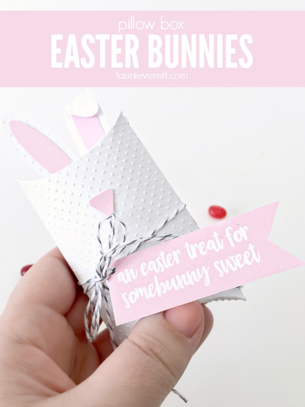 Pillow box Easter bunnies - these look like they would take forever, but really they're ready in minutes!