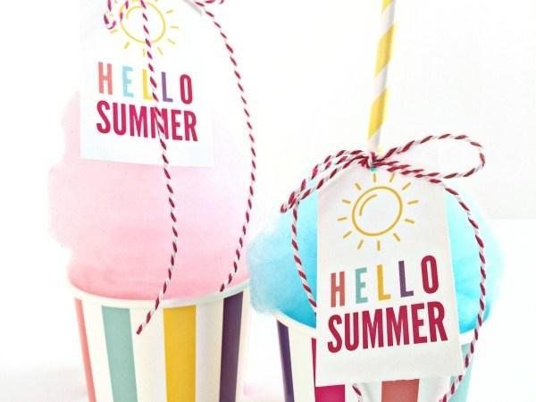 Free Print + Cut Hello Summer Gift Tag