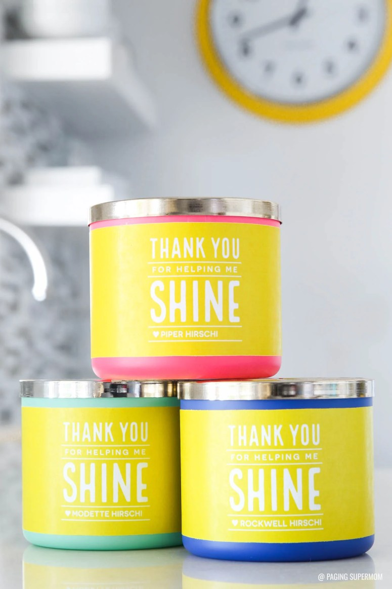 Teacher Appreciation Candle Gift Tag from @PagingSupermom via @TauniandCo