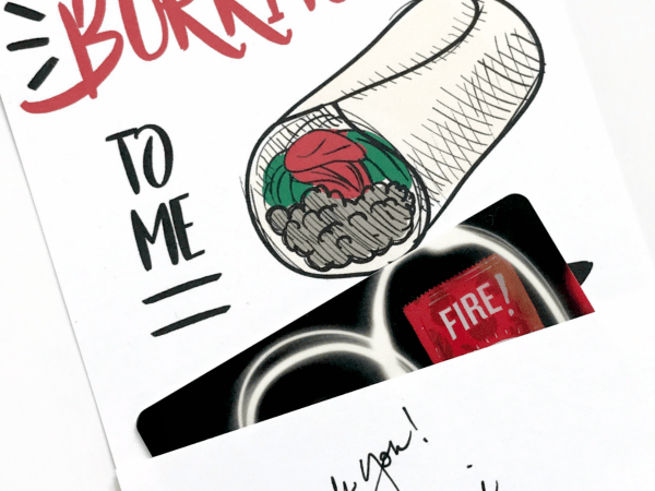 Free Printable You're Burritoful Gift Card Holder