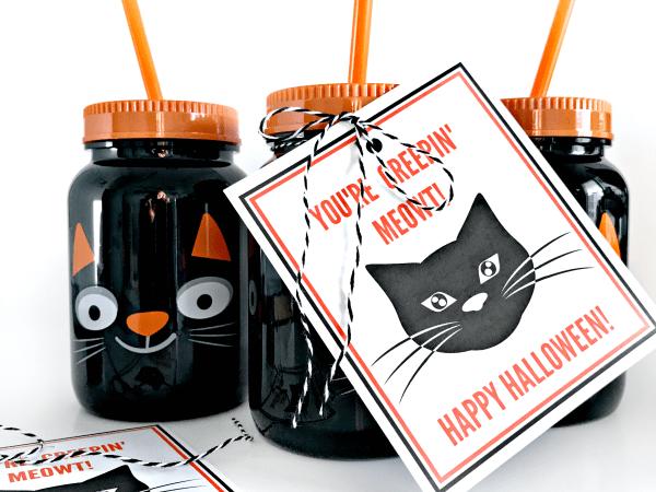 Black Cat Halloween Printable Gift Tag