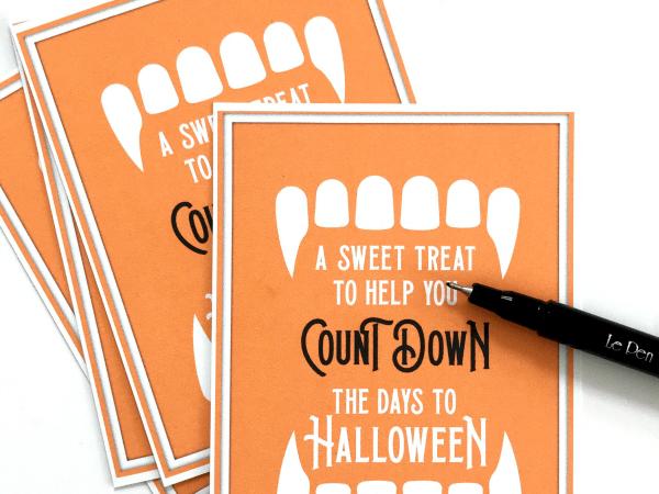 Count Down to Halloween Printable