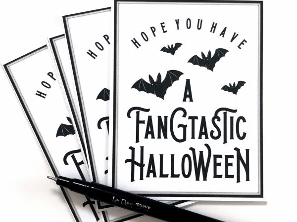 Fangtastic Halloween Printable