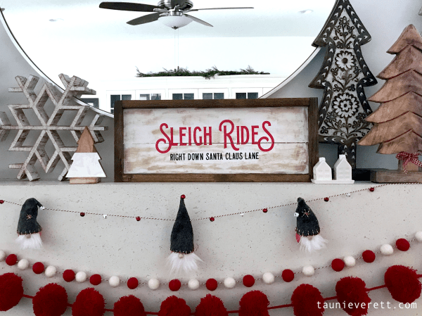 Sleigh Ride Christmas Sign + Free Cut File