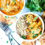 1instant pot butter chicken and rice