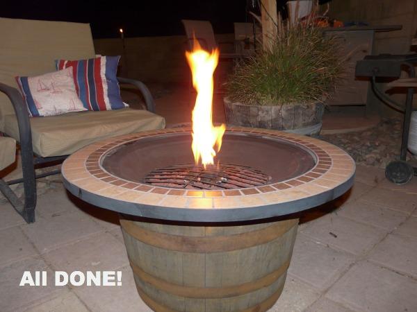 DIY Whisky Barrel Fire Pit