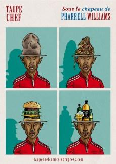 Taupe Chef - Le Chapeau de Pharrell - Dessins de Gilderic