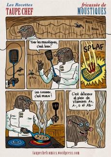 Recettes Taupe Chef : Fricassée de moustiques - BD de Gilderic