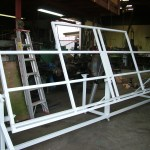 Tilting Table Frame for Kitchen maker. Frame is tilted with air rams.