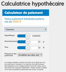calculatrice hypothécaire