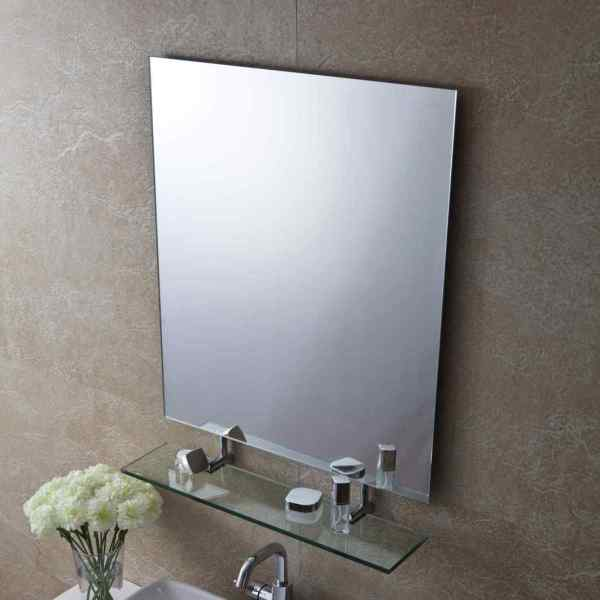 Зеркало для ванной комнаты с полкой, шкафчиком и ...
