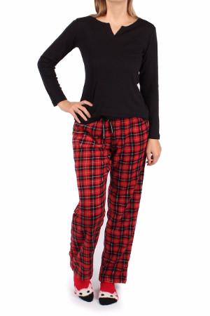 Červeno čierny pyžamový set Cozy Toesie