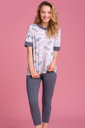 Dievčenské sivé pyžamko PY109