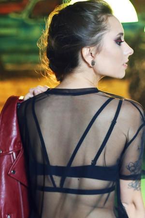 Sexi ozdobné ramienka na chrbát Katie