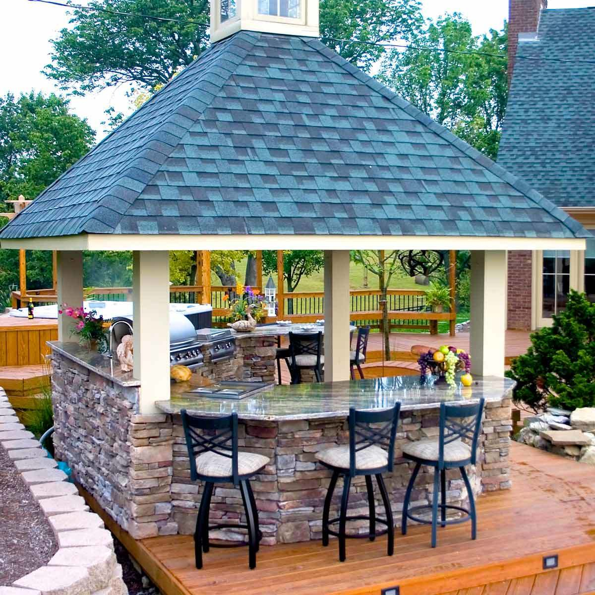 10 Inspiring Outdoor Bar Ideas The Family Handyman pertaining to Backyard Tiki Bar Ideas