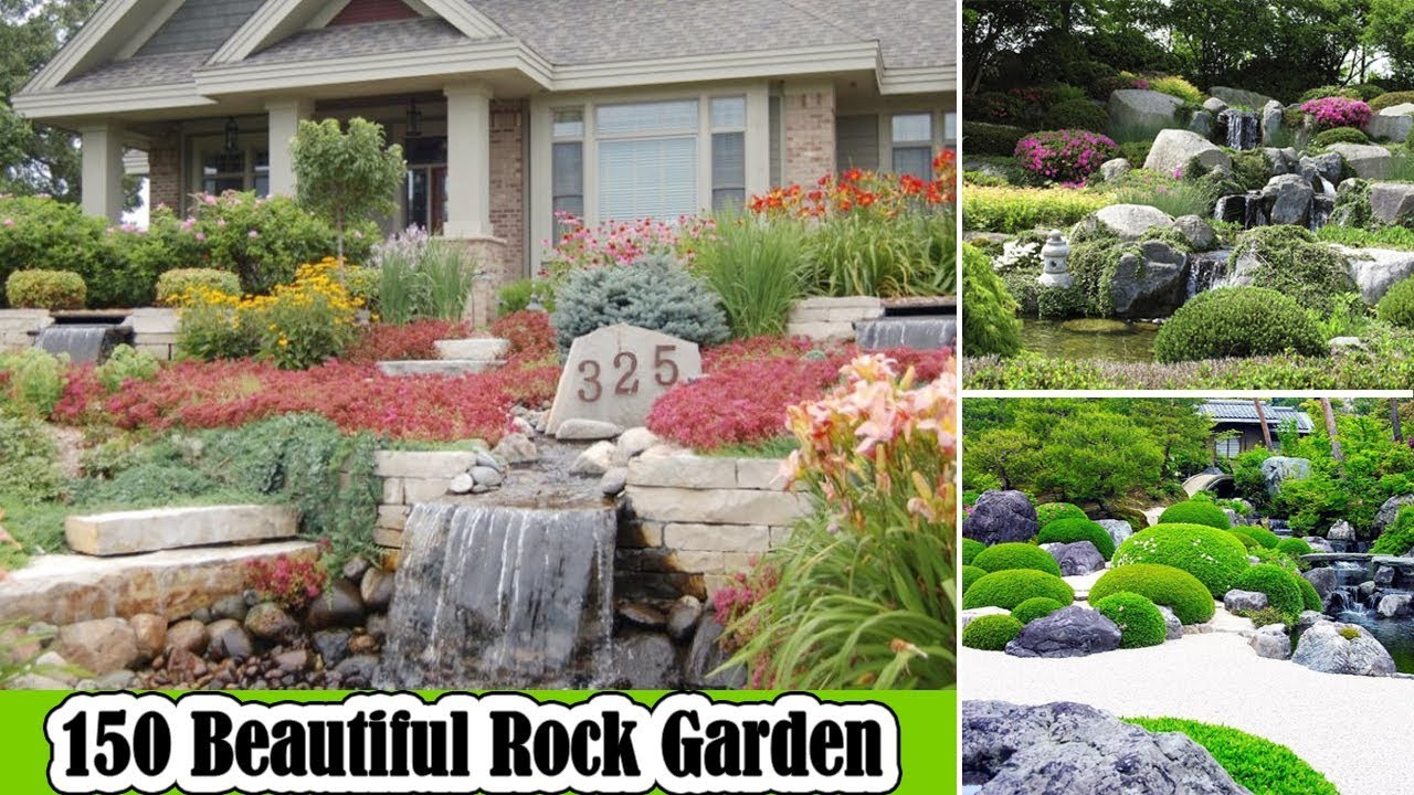 150 Beautiful Rock Garden Ideas For Landscaping Backyard Youtube in 13 Smart Concepts of How to Craft Backyard Landscaping Ideas With Stones