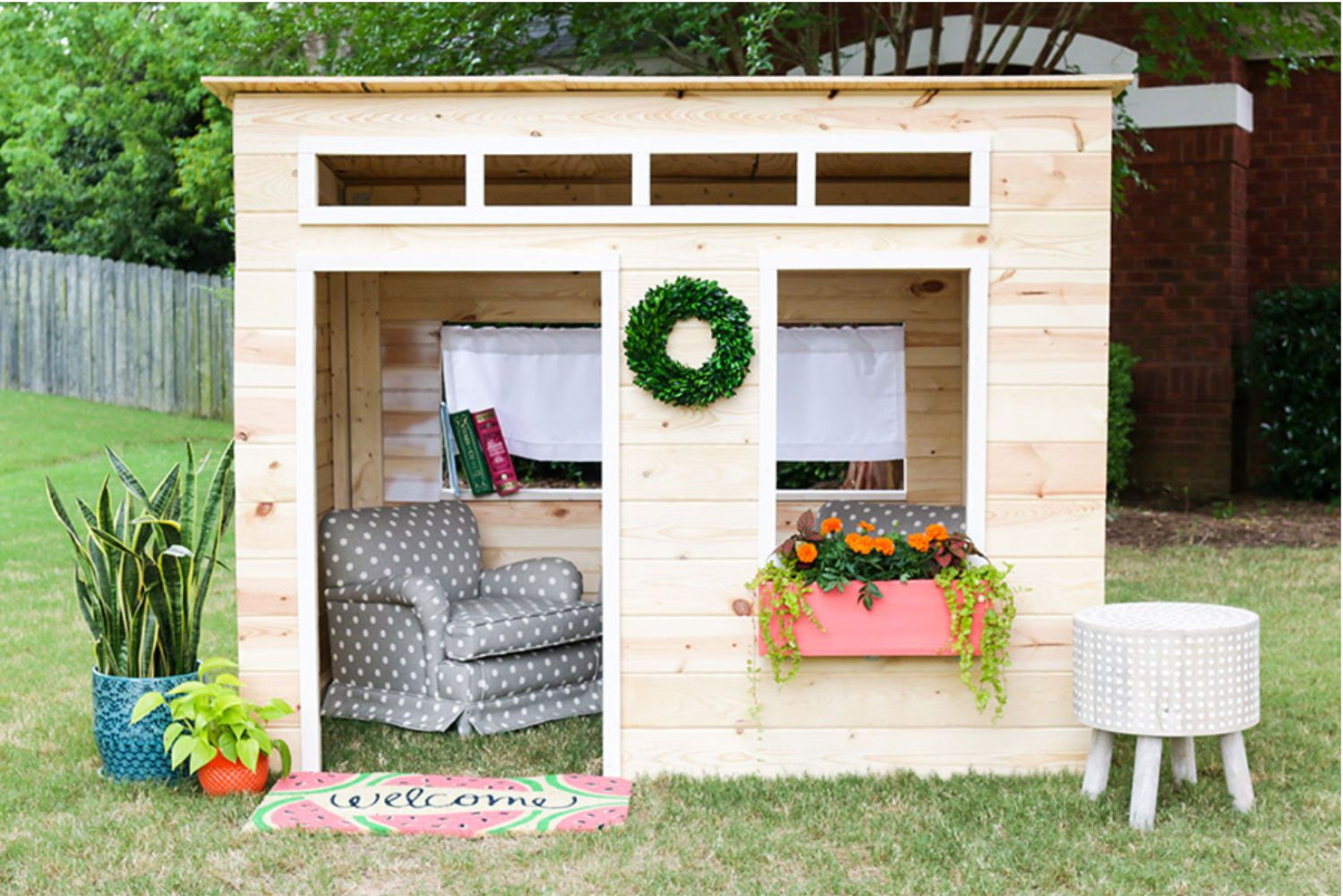 16 Free Backyard Playhouse Plans For Kids with 11 Awesome Ideas How to Craft Backyard Playhouse Ideas
