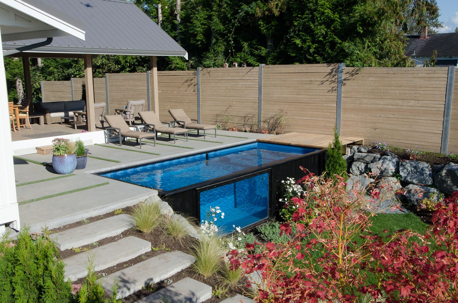 22 In Ground Pool Designs Best Swimming Pool Design Ideas For Your with 14 Awesome Designs of How to Makeover Backyard Landscaping With Pool