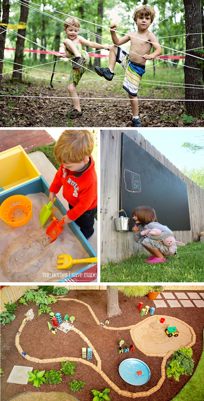 24 Adventurous Back Yard Ideas intended for Toddler Backyard Ideas