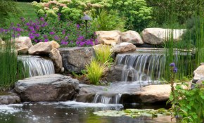 25 Pond Waterfall Designs And Ideas for 14 Clever Ideas How to Improve Backyard Pond Ideas With Waterfall
