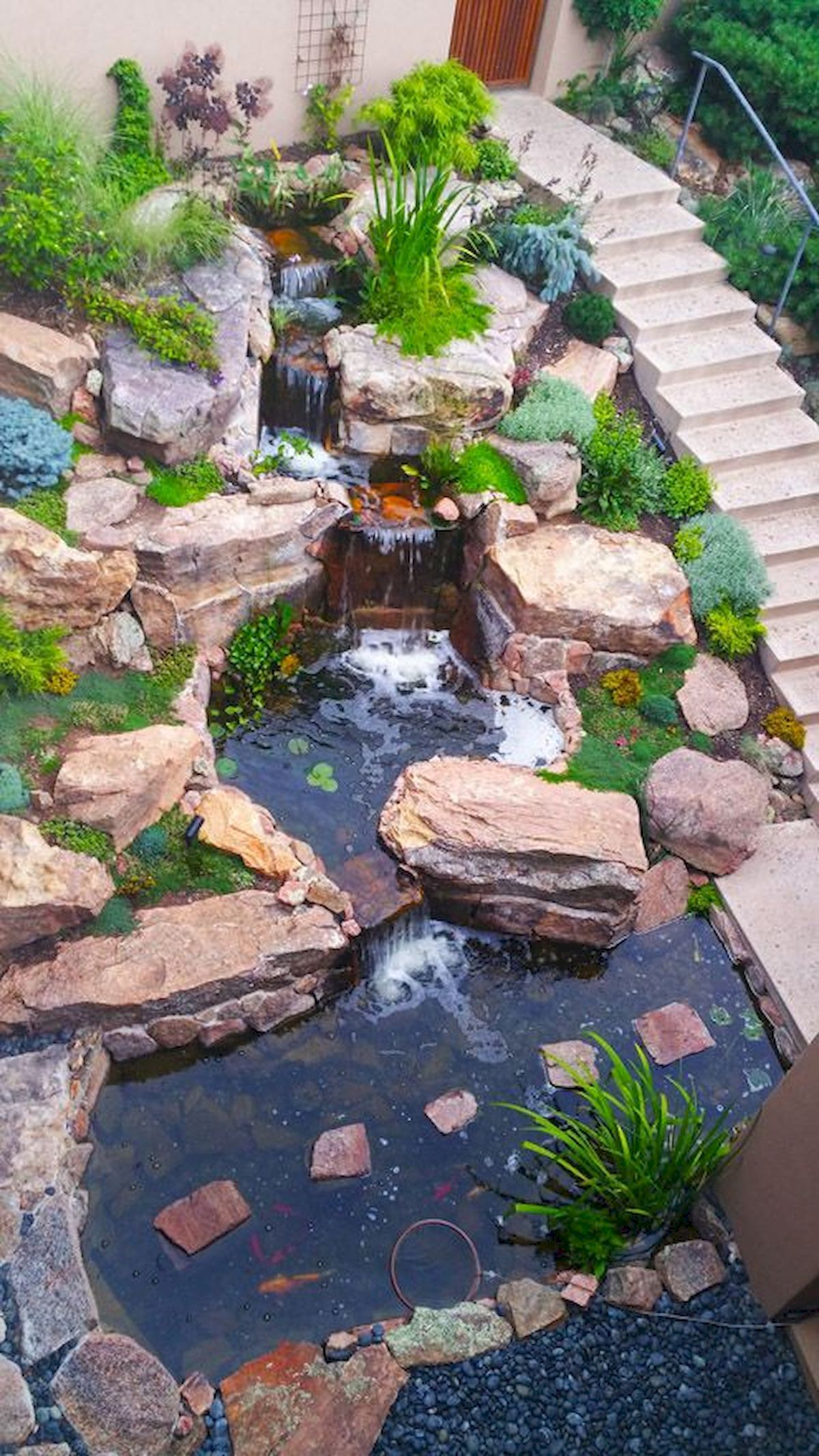 25 Stunning Backyard Ponds Ideas With Waterfalls Landscaping And within 14 Clever Ideas How to Improve Backyard Pond Ideas With Waterfall