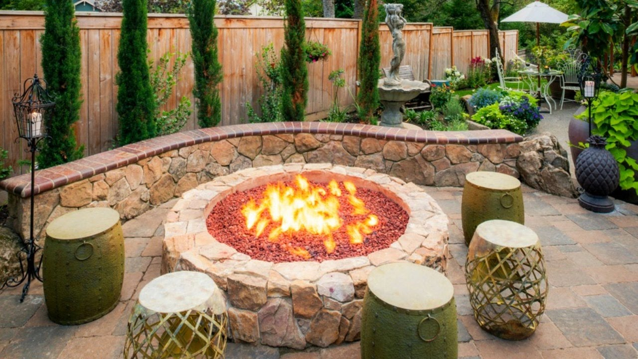 28 Cool Fire Pit Ideas Outdoor Fire Pit Design Youtube within Small Backyard Fire Pit Ideas