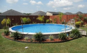 28 Creative Ideas For Landscaping Around Above Ground Pool pertaining to 12 Genius Designs of How to Improve Backyard Above Ground Pool Landscaping Ideas