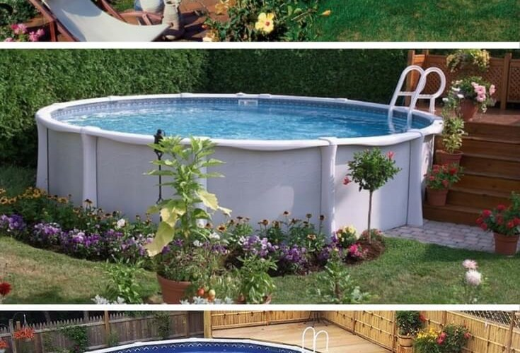 40 Uniquely Awesome Above Ground Pools With Decks throughout Above Ground Pool Ideas Backyard