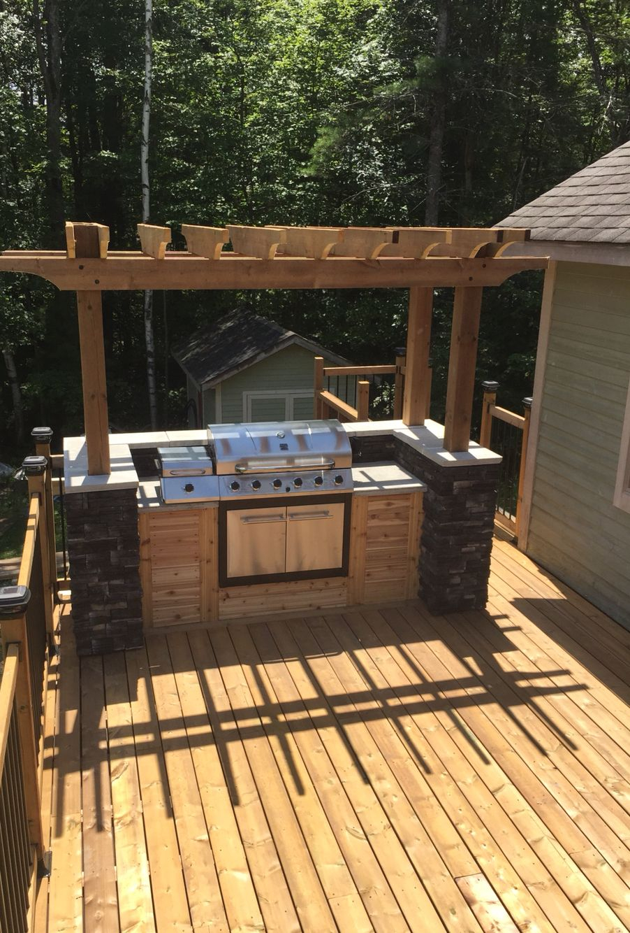 10 Awesome Concepts of How to Build Backyard Bbq Area ... on Patio Grilling Area  id=66086
