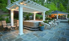 8 Ways To Beautifully Integrate An Outdoor Hot Tub throughout Hot Tub Backyard Ideas