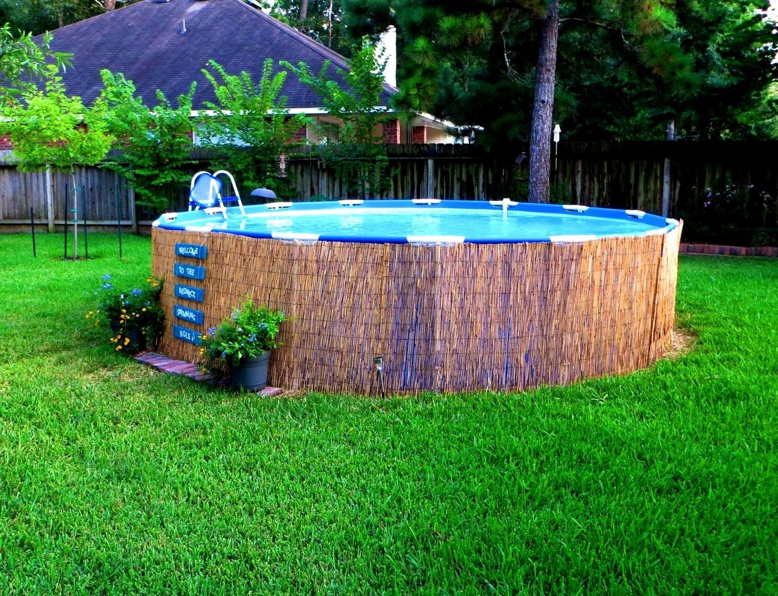 Above Ground Pool Landscaping Ideas Pictures Randolph Indoor And with 10 Awesome Ideas How to Make Above Ground Pool Backyard Landscaping Ideas