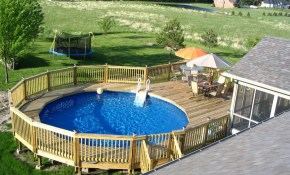 Above Ground Pool Landscaping Ideas Swimming Pool Spa intended for Backyard Above Ground Pool Landscaping Ideas