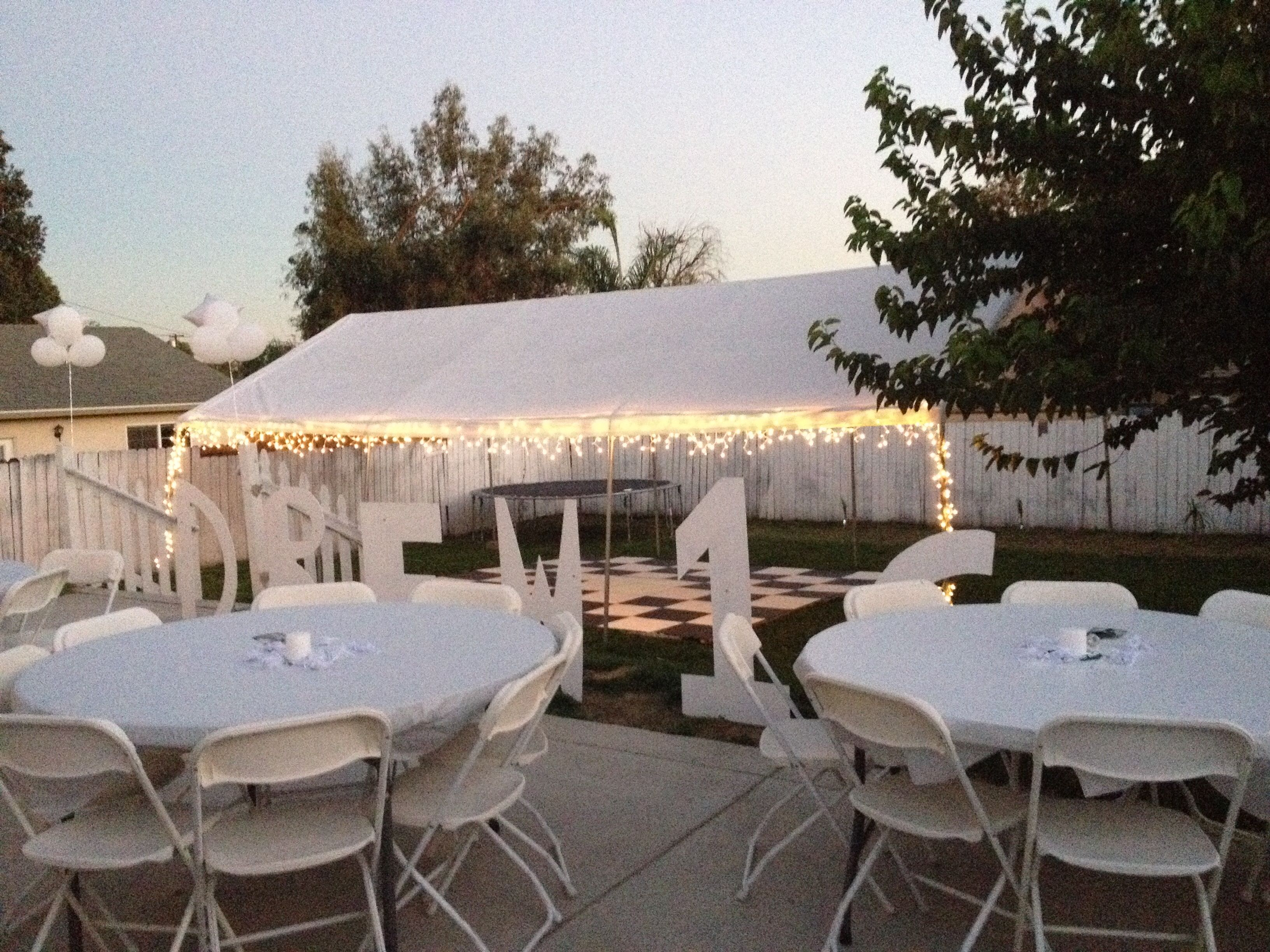 All White Party Backyard Set Up Sweet 16 All White Party All in 10 Smart Ideas How to Makeover Ideas For Backyard Party