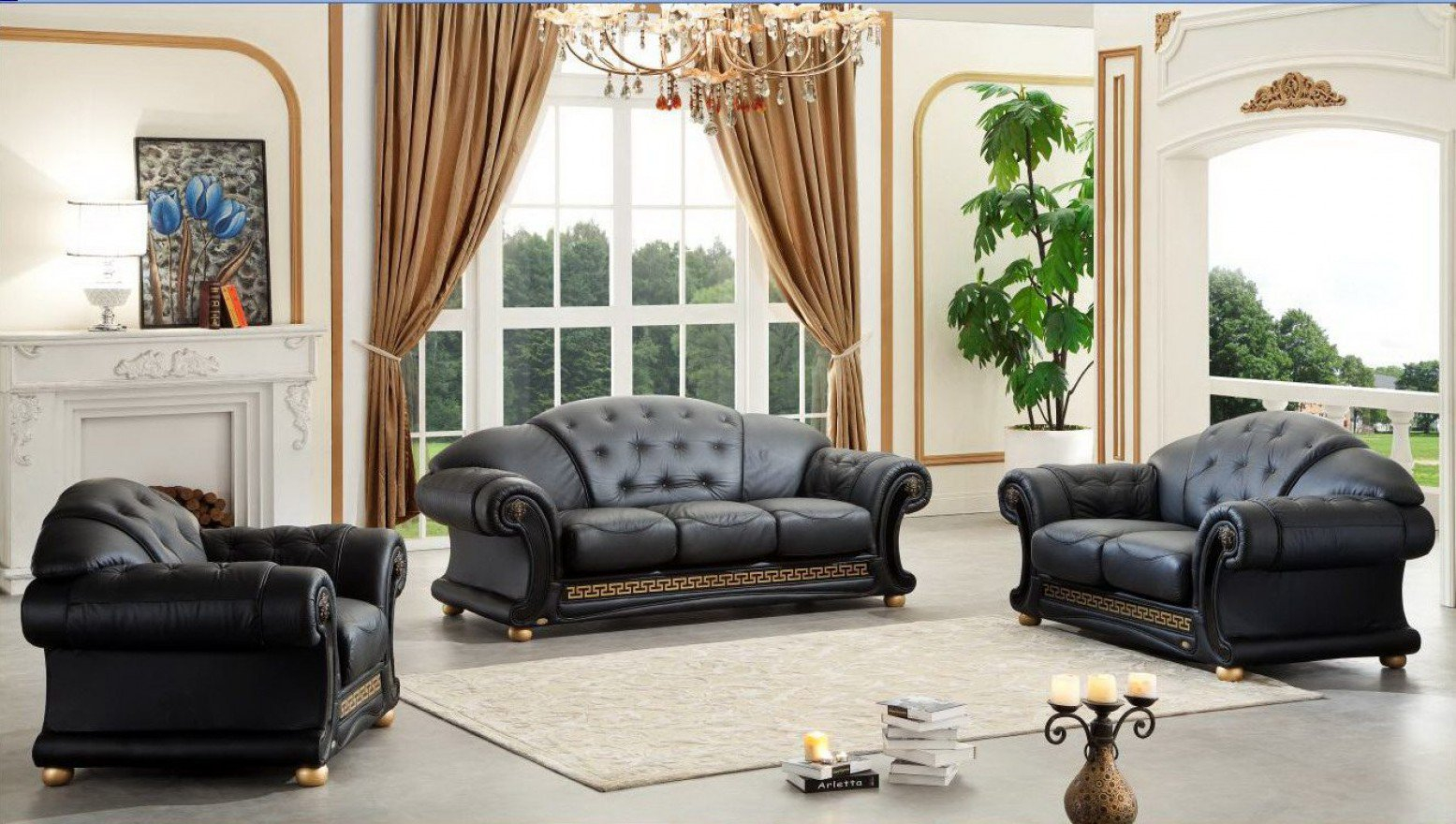 Apolo Leathersplit Living Room Set Esf Furniture Sohomod pertaining to 12 Genius Ways How to Upgrade Living Room Sets Leather