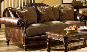 Ashley Claremore 3 Piece Living Room Set In Antique 84303 38 35 23 for Claremore Antique Living Room Set