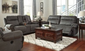 Austere Gray Reclining Living Room Set From Ashley 3840181 with regard to Living Room Recliner Sets