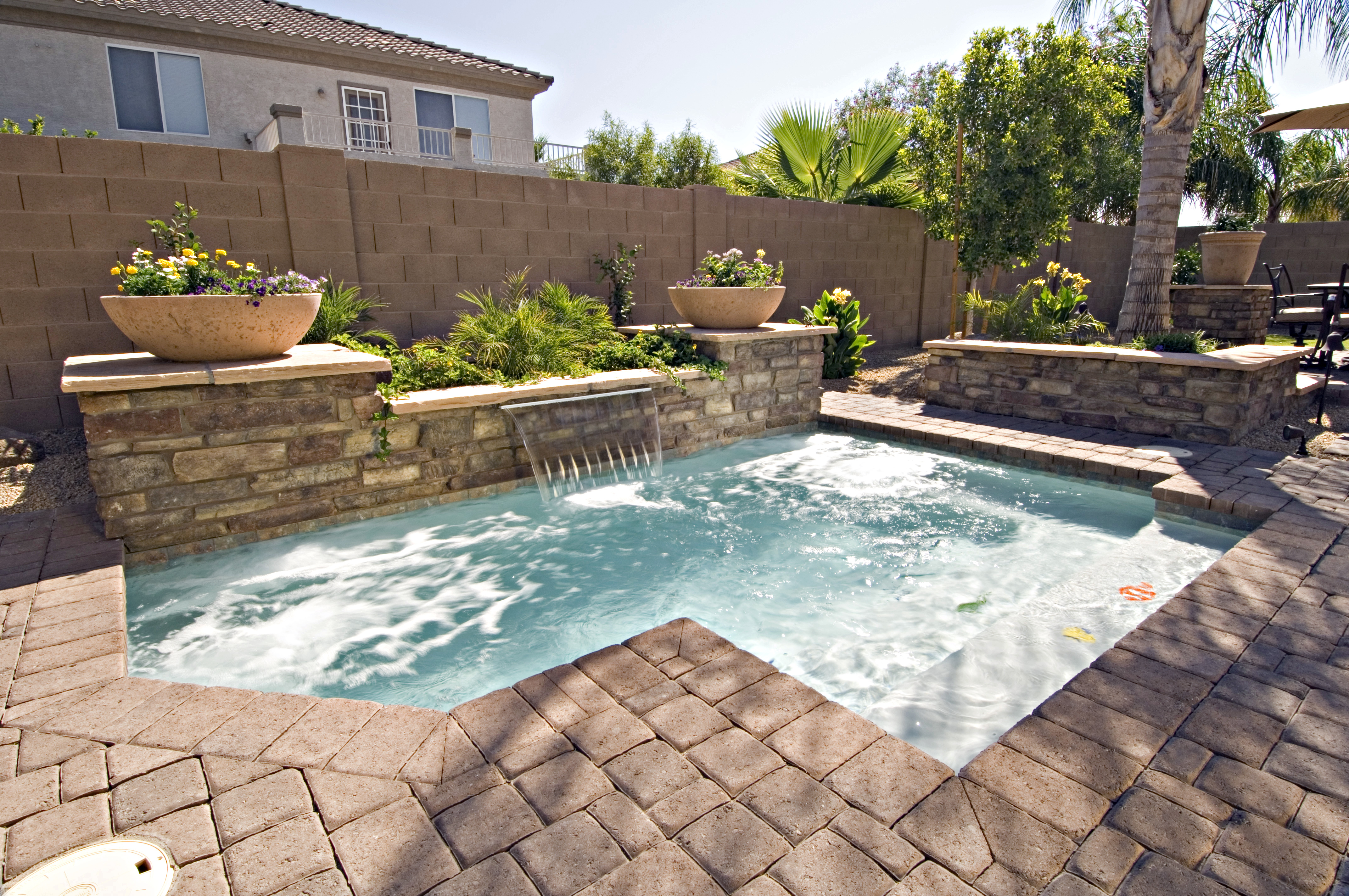 Awesome Design Outdoor Jacuzzi Ideas Rectangular Pool Tierra Este for 15 Awesome Tricks of How to Upgrade Pool Ideas For Small Backyards