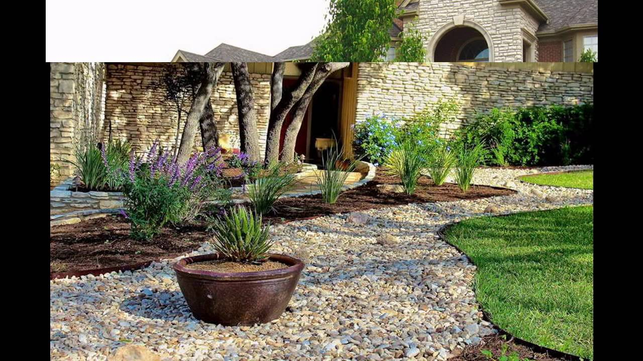 Awesome Stone Landscaping Ideas Youtube for Backyard Landscaping Ideas With Stones