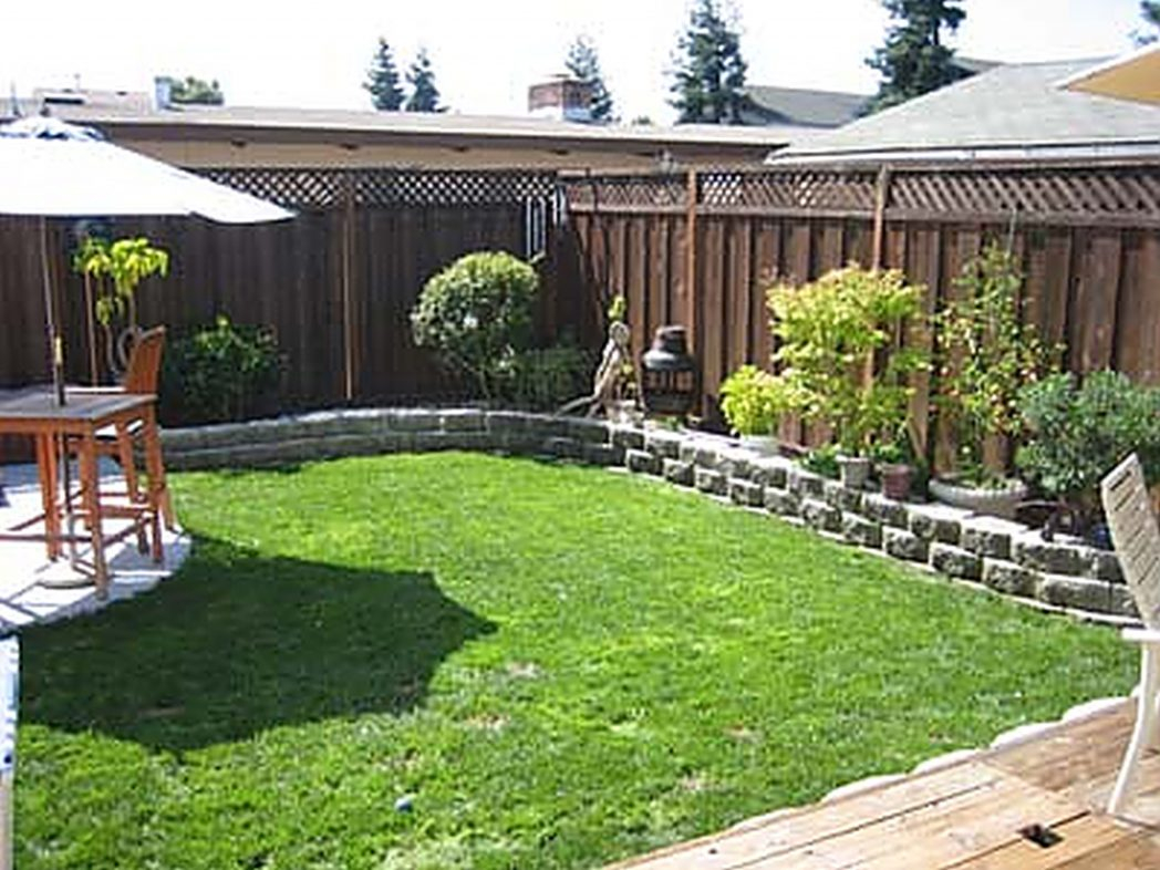 Back Patio Landscaping Ideas Small Backyard Do Regarding Recent inside Landscape Designs For Small Backyards