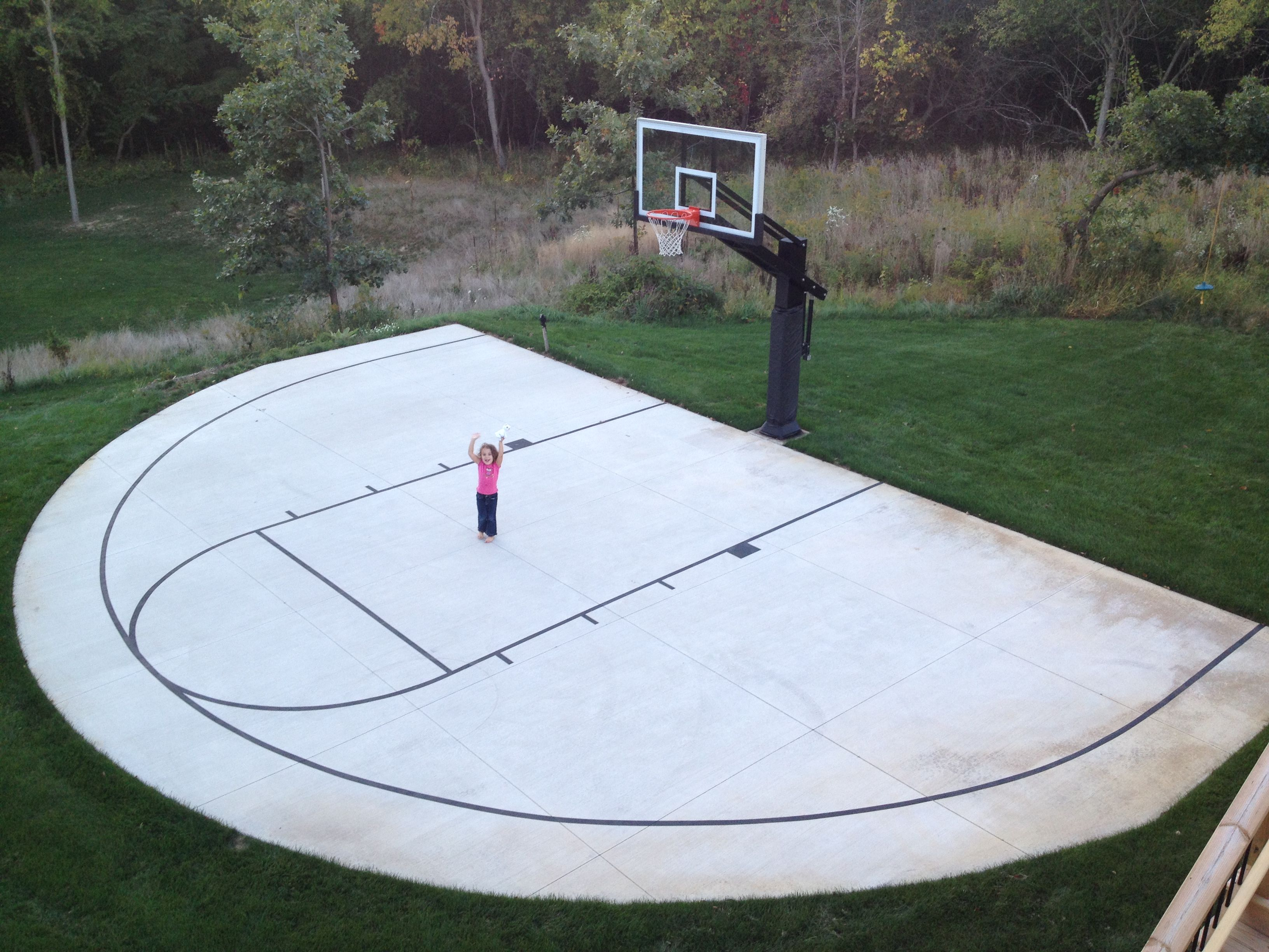 Backyard Basketball Court Ideas Indoor Outdoor Courts Elizabeth Erin with regard to Backyard Basketball Court Ideas