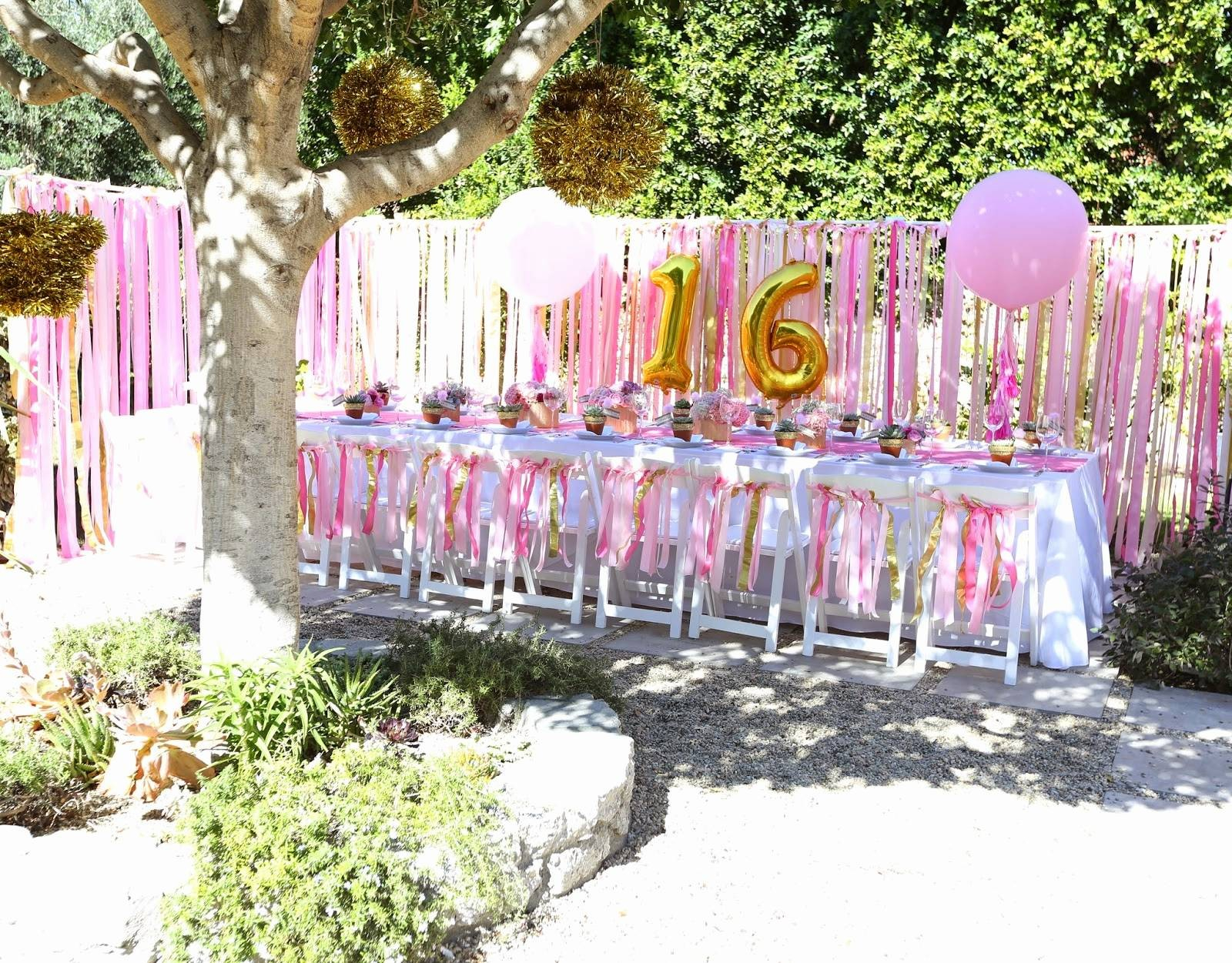 Backyard Birthday Party Ideas Sweet 16 Gift For A Girl Astonishing within 13 Smart Ideas How to Makeover Backyard Birthday Party Ideas Sweet 16