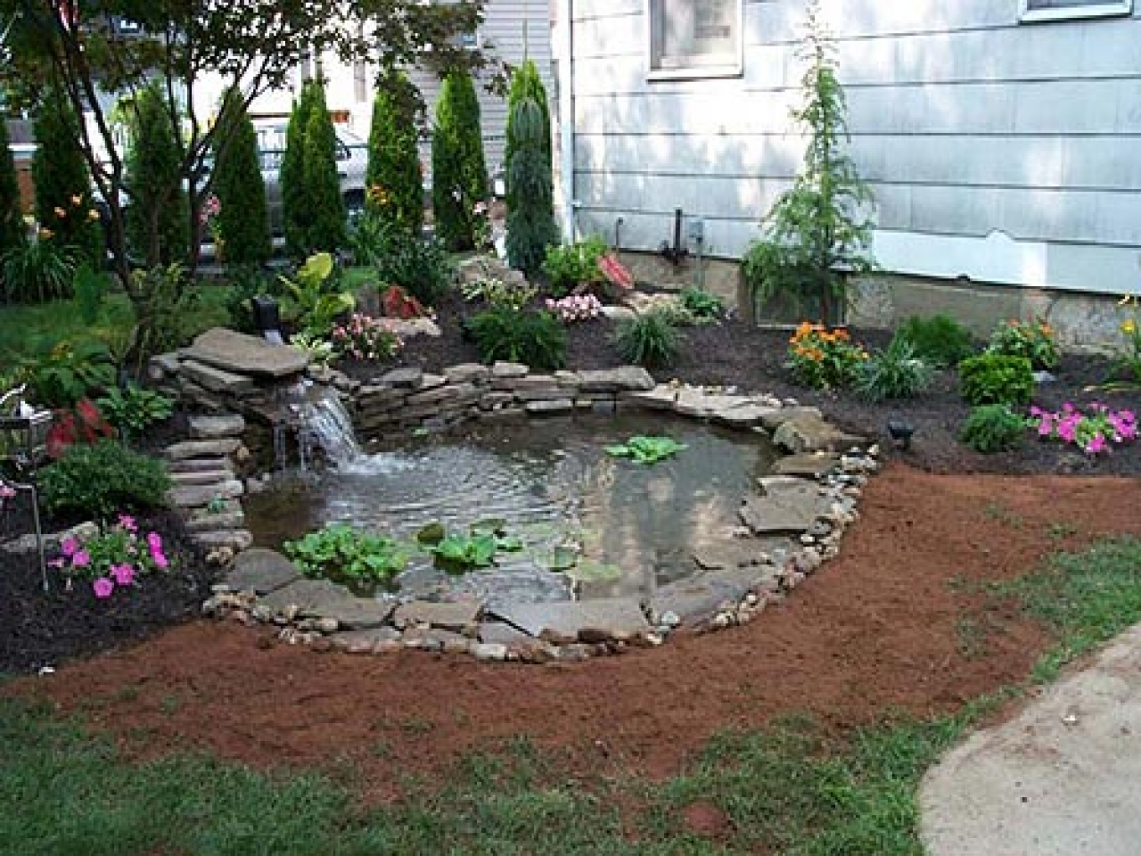 Backyard Landscaping Ideas For Pond Diy Backyard Pond Landscaping within Backyard Pond Landscaping