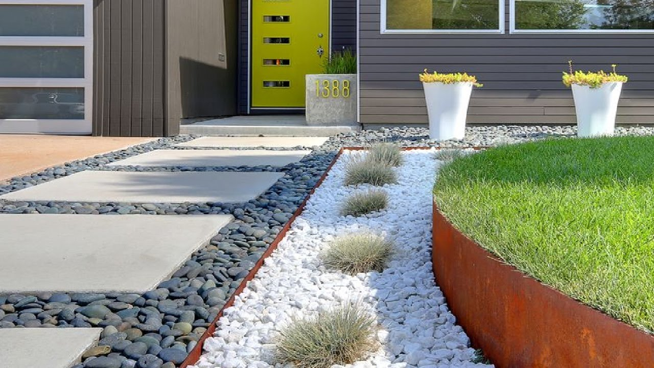 Backyard Landscaping Ideas With Rocks Green House with Front And Backyard Landscaping Ideas