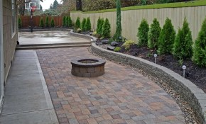 Backyard Paver Patio Connected To A Concrete Slab Basketball Court throughout Paver Ideas For Backyards