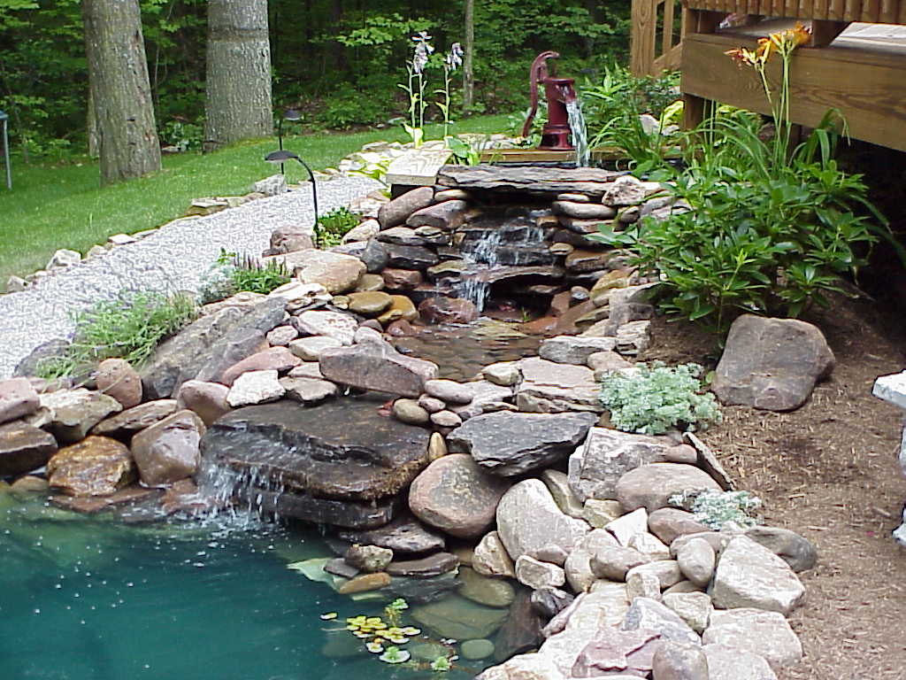 Backyard Pond Ideas With Waterfall Contemporary Photos Small Patio intended for Easy Backyard Pond Ideas