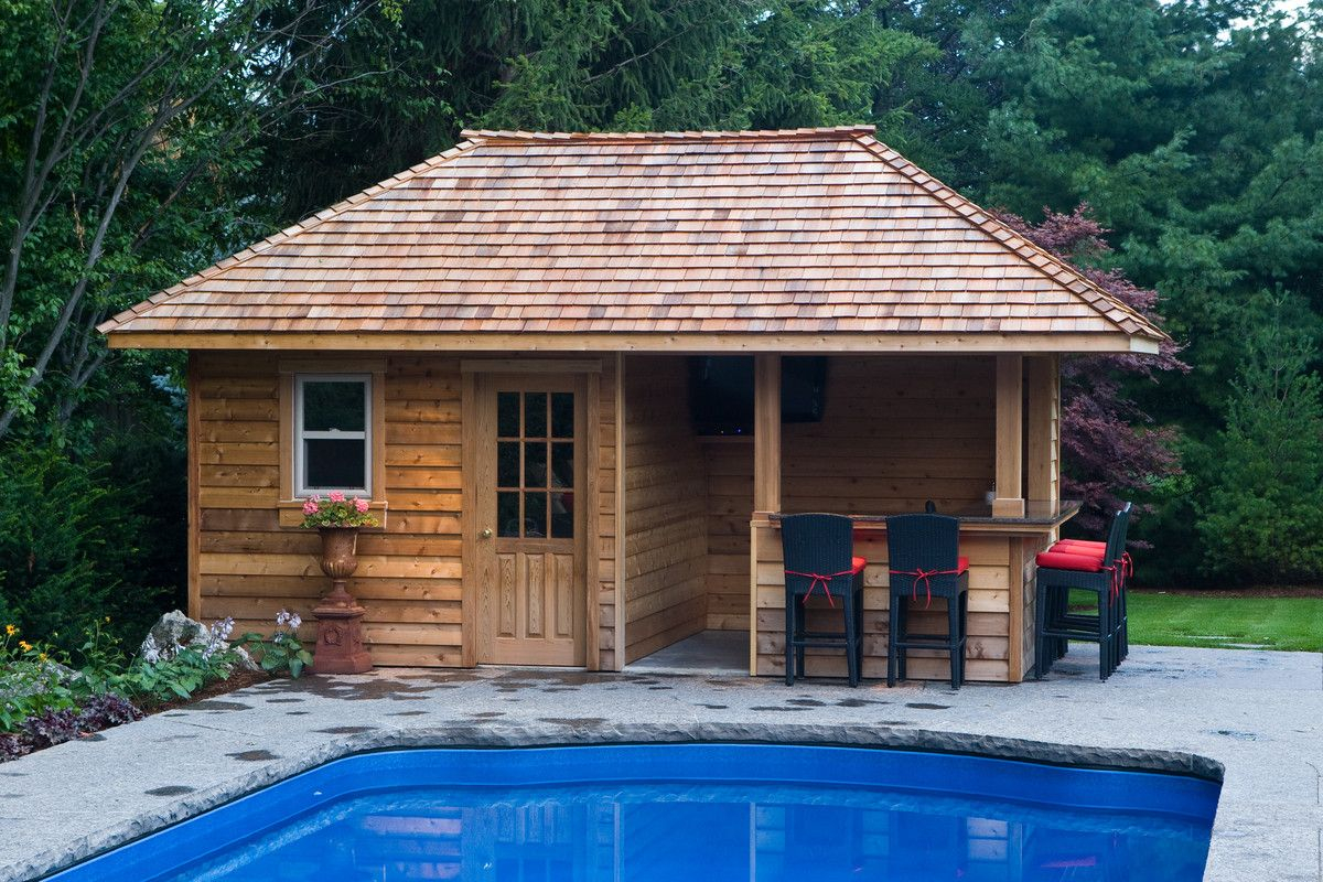 Backyard Pool Houses And Cabanas Pool Sheds And Cabanas Oakville for 13 Clever Designs of How to Make Backyard Pool House Ideas