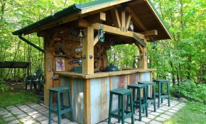 Backyard Tiki Bars Luxury Patio Ideas Outdoor Bar Plans Made Around inside Backyard Tiki Bar Ideas