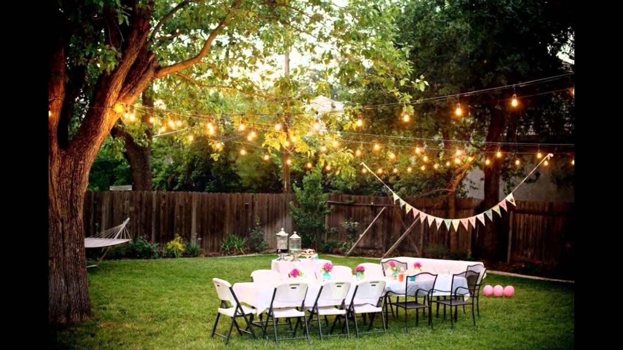 Backyard Weddings On A Budget Youtube within 11 Genius Ideas How to Build Ideas For A Backyard Wedding