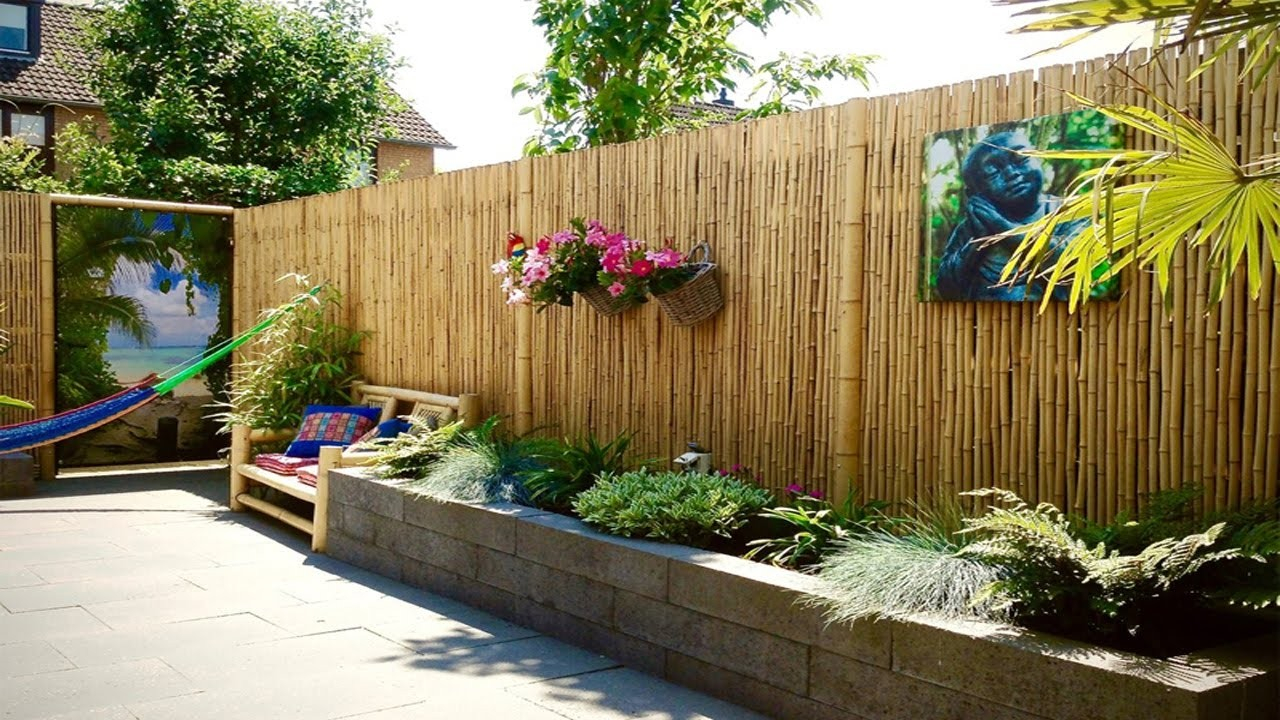Bamboo Ideas For Backyard Privacy Fence All Home Decor Choose throughout 15 Smart Concepts of How to Build Ideas For Backyard Privacy
