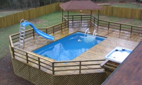 Best Backyard Above Ground Pools Rickyhil Outdoor Ideas Ideas pertaining to 10 Awesome Tricks of How to Build Above Ground Pool Ideas Backyard